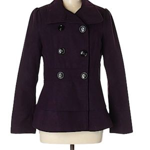 Kenneth Cole New York Pea Coat Button Down Size 6